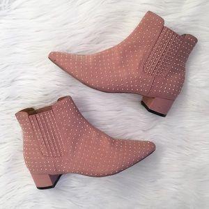 Topshop Pink Killer Studded Booties